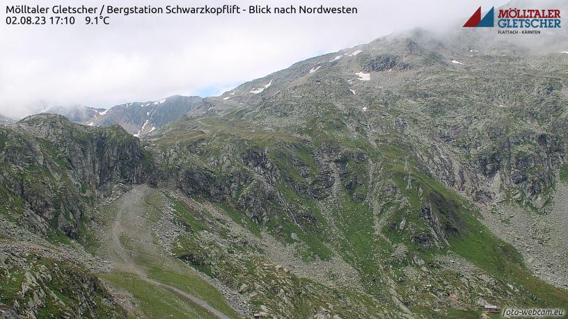 WEBkamera Mölltaler Gletscher - Schwarzkopf