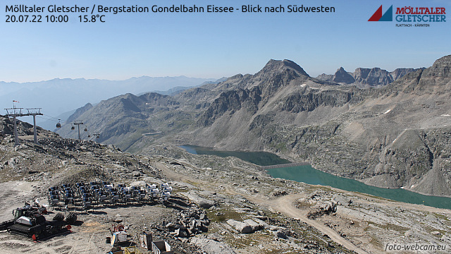 Livecam Mölltaler Gletscher - Eissee