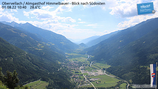 Livecam Obervellach at Alpengasthof Himmelbauer