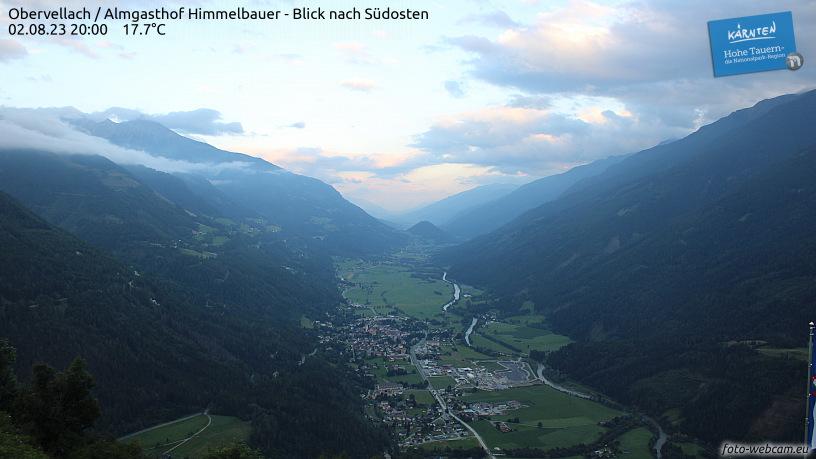 Livecam Obervellach - Alpengasthof Himmelbauer Blick nach Südosten